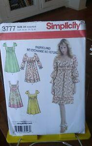 Oop-SImplicity-3777-misses-summer-peasant-dress-gathers-sz-4-12-NEW