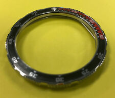 Last Red/Black Insert Custom Steel Bezel for Vostok Amphibian Komandirskie Watch