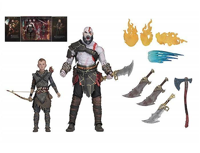 Gott of War (2018) Ultimate Kratos and Atreus 7  Wirkung Figures 2-Verpackung