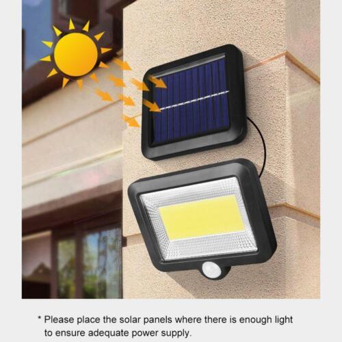 100LED Solarleuchte mit Bewegungsmelder Solarstrahler Außenleuchte Gartenlampe