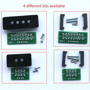 Tactile push button mount with optional Bezel. Momentary PCB mounting kit