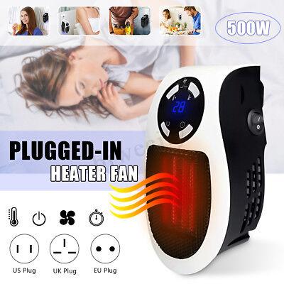 Portatile 900W Mini Plug-In Elettrico Riscaldamento Ventola Casa Ufficio