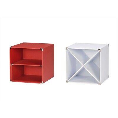 4-er Set 30x30x30 cm Checkersbox Sompex 4083 Boxen Checkers rot