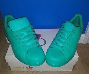 NIB - Men's Adidas Superstar Size 12 Pharrell Williams Supercolor Pack HyperGrn