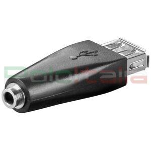 Adattatore-USB-femmina-audio-JACK-Aux-auto-radio-casse-pc-stereo-cavo-carica-mp3