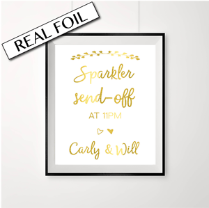 Sparkler send-off //// custom time //// wedding send off //// Custom names //// Gold