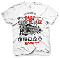 Officially Licensed Friday The 13th- Camp Crystal Lake Men's T-Shirt S-XXL Size