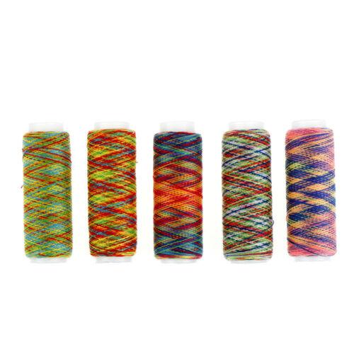5pcs Rainbow Color Sewing Thread DIY Embroidery Sewing Yarn Knitting Thread SE