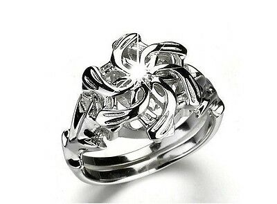 Sz6/7/8/9/10Lord of the Rings Galadriel Nenya Ring White Gold GP CZ Women's Ring