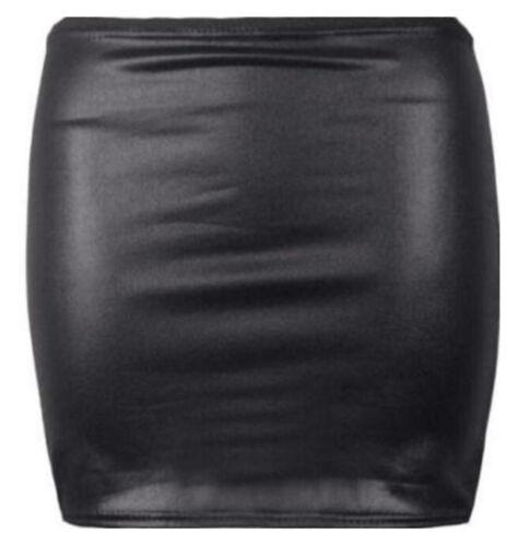 Womens Cap Sleeve Crop Top Wetlook Skull Army Tartan Ladies Mini Skirt 8 10 14
