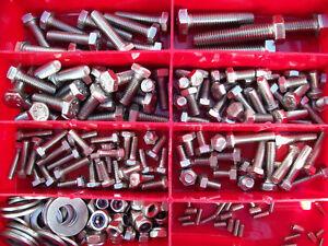 300/Teile Edelstahl Flach und spring Unterlegscheiben Sortiment Set M2/M3/M4/M5/M6