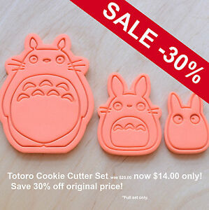 3-Pcs-Totoro-Cookie-Cutter-Set-3d-printed-plastic