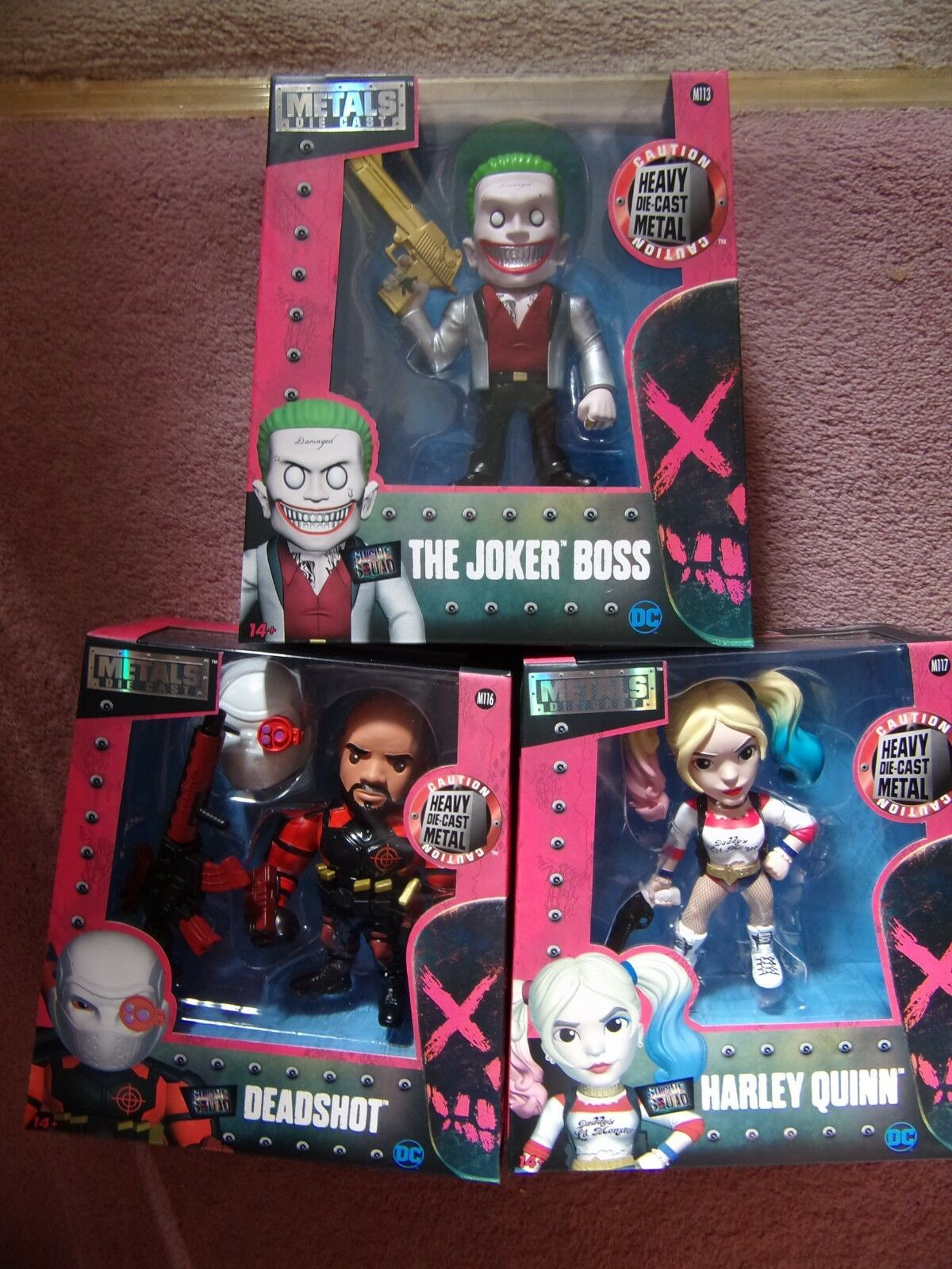 SUICIDE SQUAD 6  JADA 3 Figures of HARLEY QUINN - THE JOKER BOSS and DEADSHOT