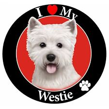 Pet Car Magnet, I Love My Westie