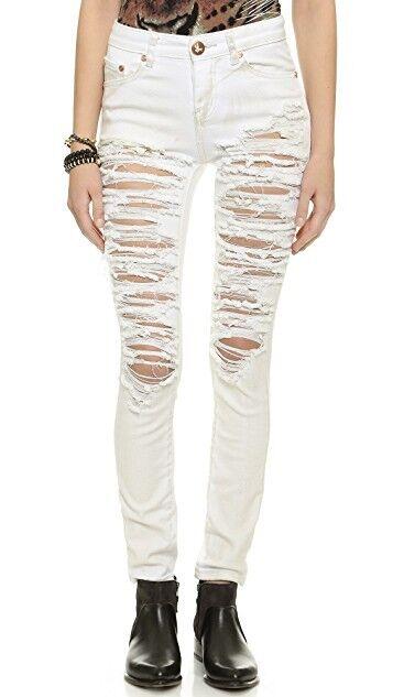 NWT One Teaspoon Dirty White Yardbirds Jeans SIZE 28