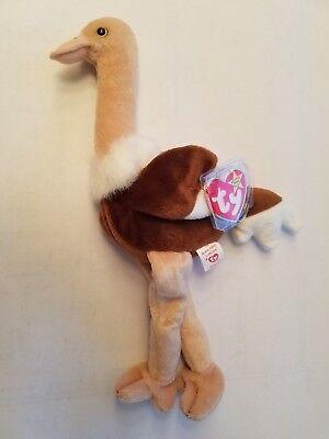 Ty Beanie Baby ~ STRETCH the Ostrich Bird 6.5 Inch MWMT