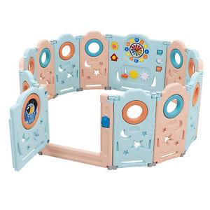 Babyjoy 14-Panel Foldable Baby Playpen Kids Toddler Safety Play Center Yard