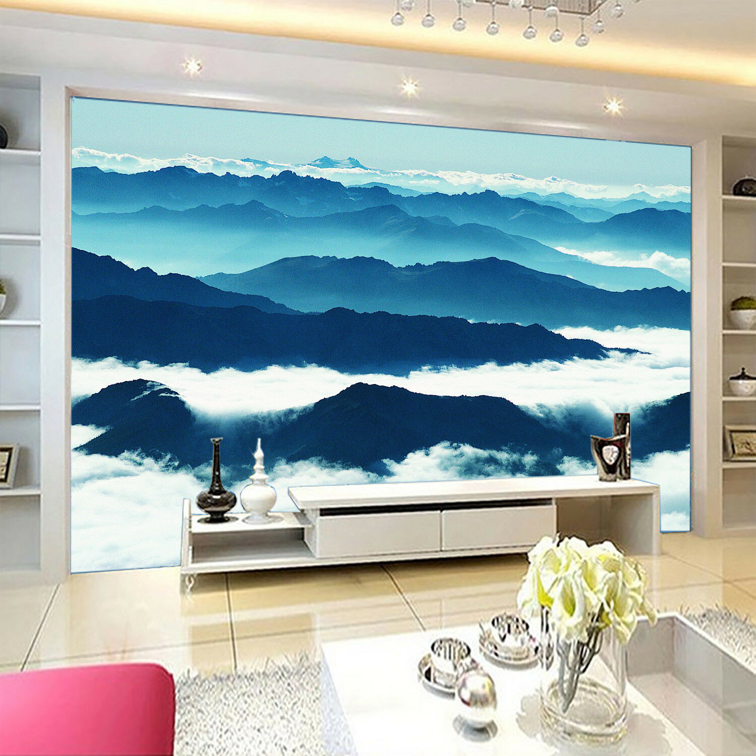 3D Fog Mountain Range 4 Wall Paper Wall Print Decal Wall Deco Indoor Mural Carly