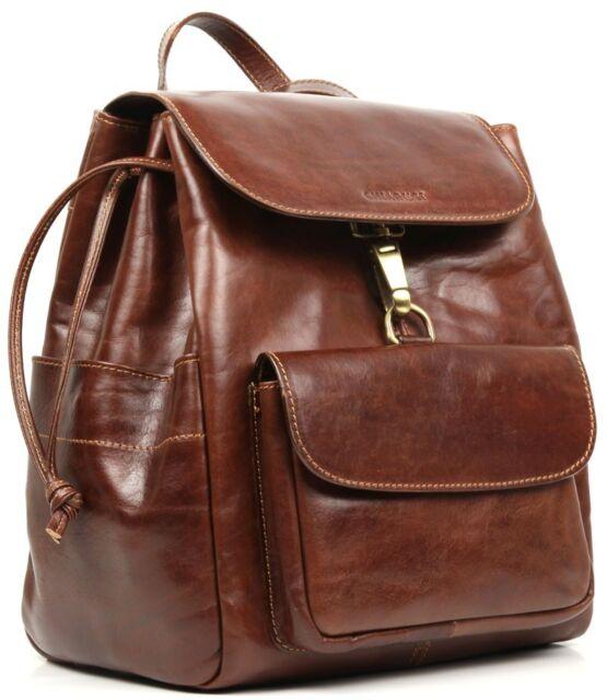 Chiarugi borsa zaino donna in pelle a spalla italian leather woman backpack