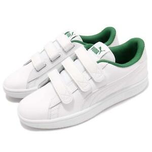 Details about Puma Smash V2 V White Green Men Strap Casual Classic Shoes  Sneakers 366910-01