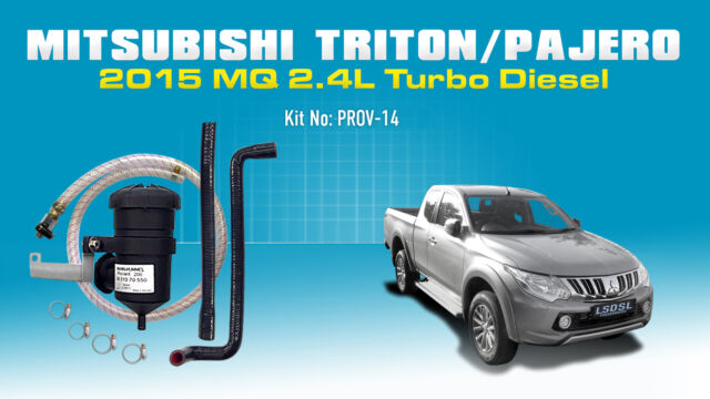 ProVent Catch Can Filter Kit for 2015 Mitsubishi 2.4L Triton MQ Pajero Sports