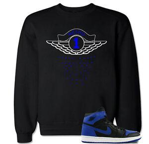 6ae1e69f612f RETRO 1 Blue Sweater to match with Air Jordan Retro 1 OG Royal Blue ...
