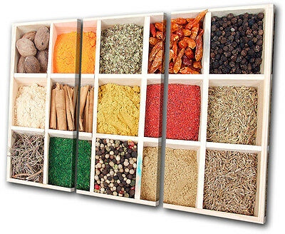 Food Kitchen Spices  TREBLE CANVAS WALL ART Picture Print VA