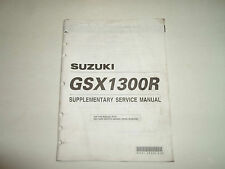 2002 Suzuki GSX1300R Supplementary Service Manual STAINED FACTORY OEM BOOK 02