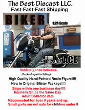Biker Ace American Diorama 1:24 Figure Will fit on a 1:24 Scale motorcycle