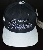Vintage Sports Specialties Georgetown Hoyas Script Black Deadstock Wool Snapback