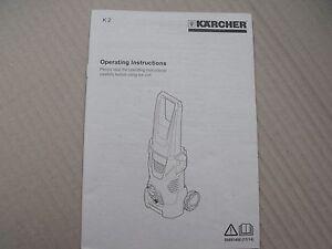 Details about GENUINE KARCHER K2 PRESSURE WASHER INSTRUCTION MANUAL