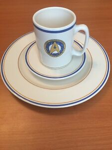 pfaltzgraff 1993 star trek vi uss enterprise ncc 1701 a plate saucer
