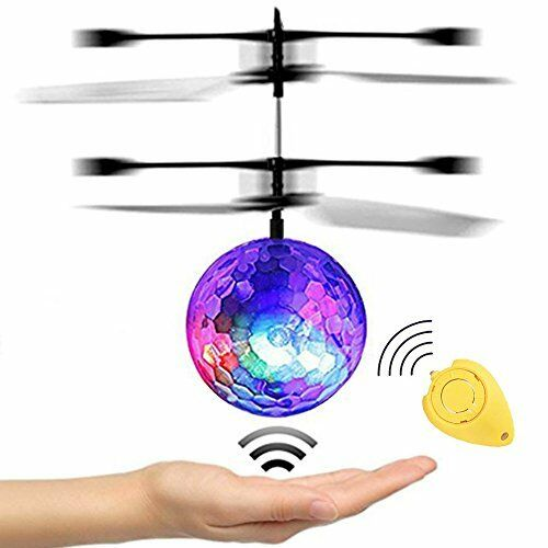 JAMSWALL RC Flying Ball, Flying Kid Toy with Protective Goggles  Remote Control