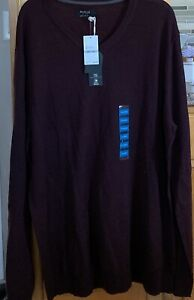 NWT-Method-BURGUNDY-HEATHER-MEN-S-Sweater-SZ-XXL-MSRP-80-00-Wool-Blend