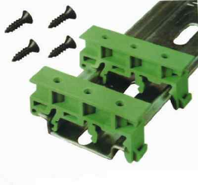 10 Sets Simple PCB Circuit Board Mounting Bracket For Mounting DIN Rail Mounting
