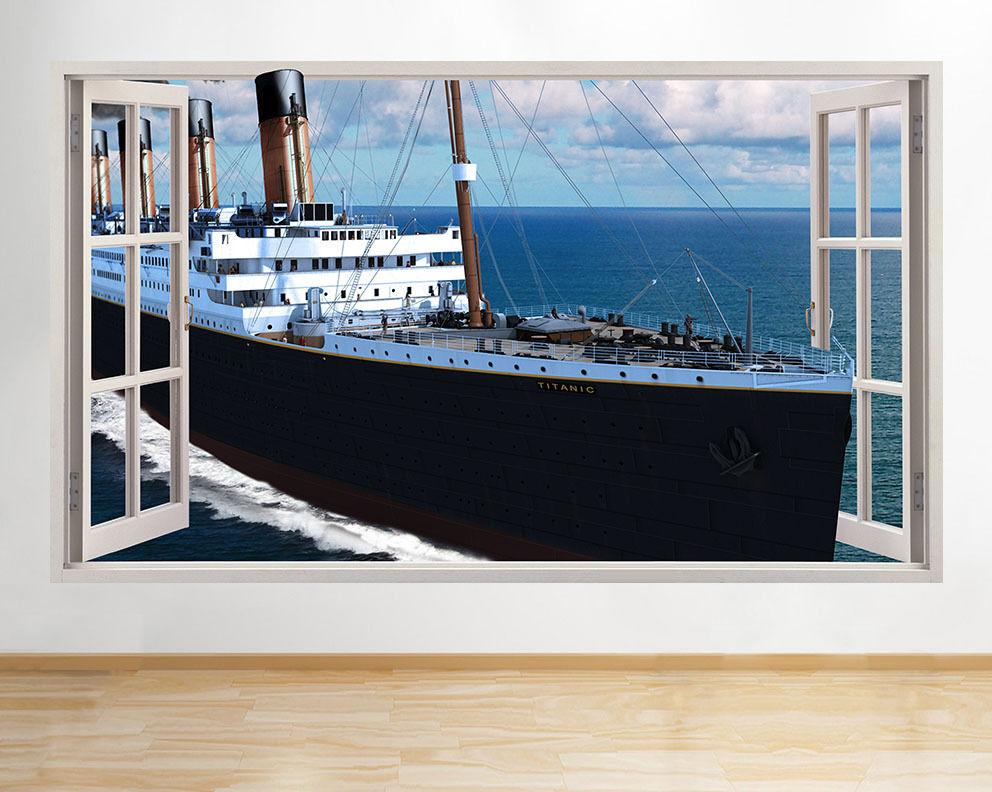C360 Titanic navire Bateau Sea Window Livi Autocollant Chambre 3D Vinyle enfants