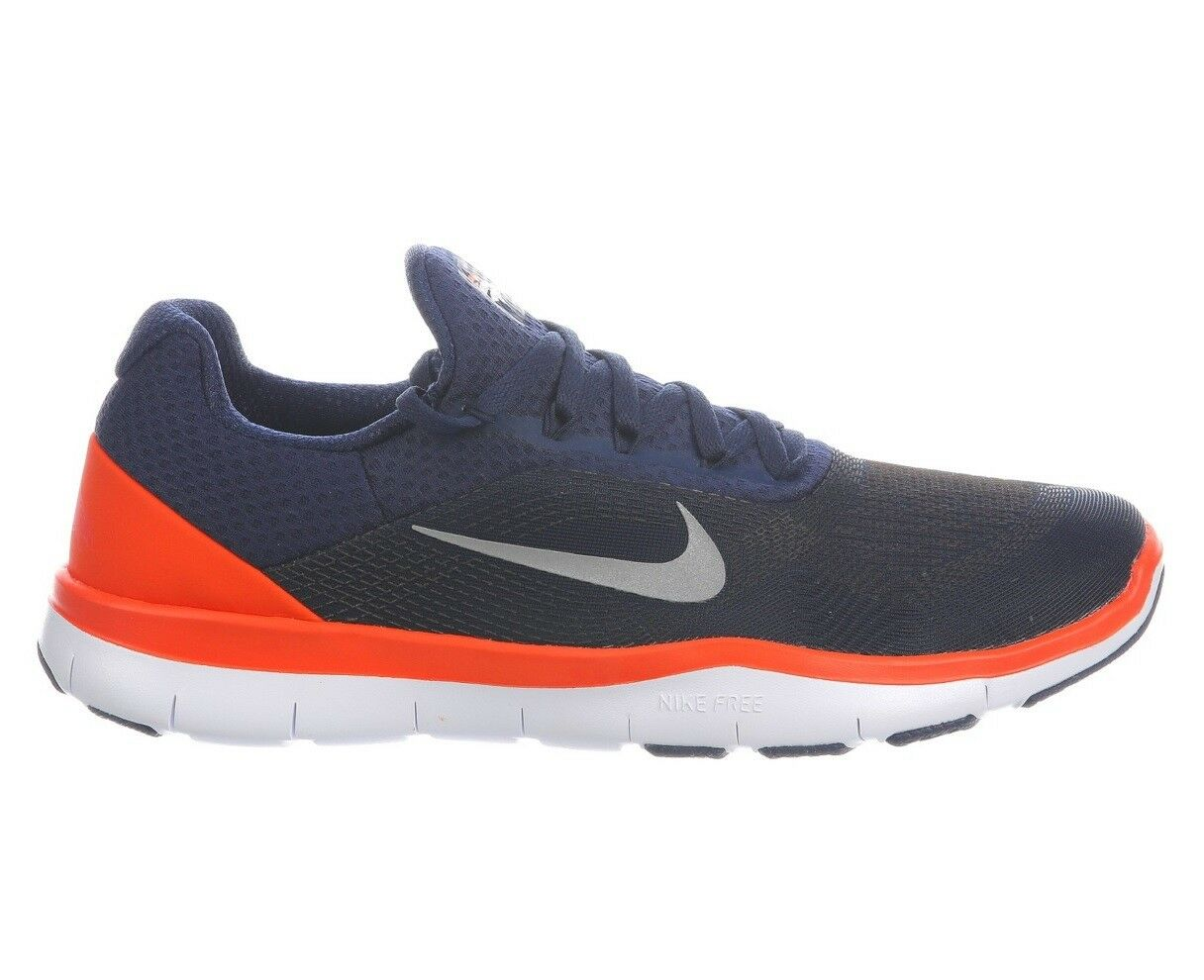 Nike Free Trainer V7 Broncos Mens AA1948-401 Navy Orange Training Shoes Comfortable Great discount