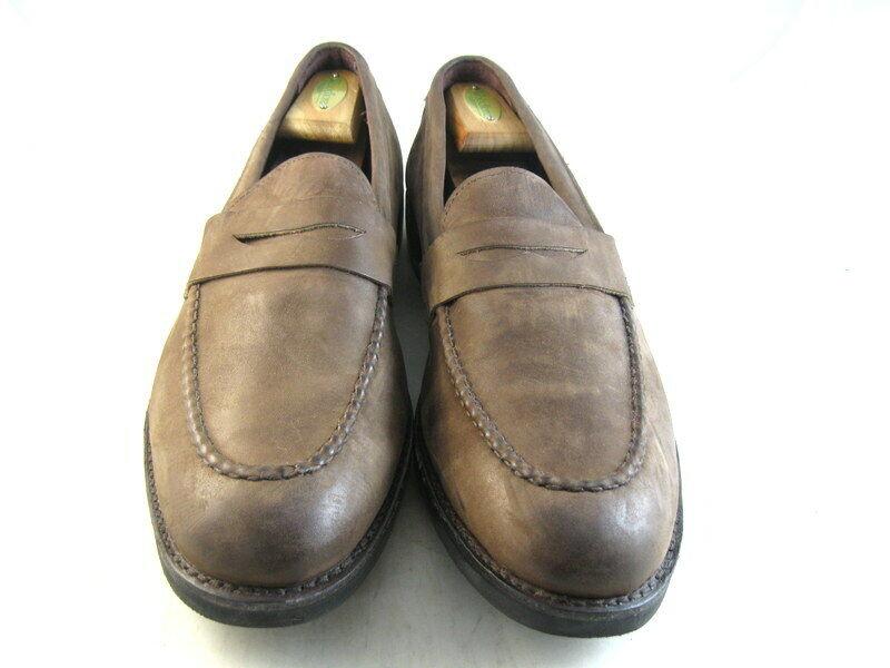 Allen Edmonds  Nomade  Penny Loafers 13 B en daim marron (1175)