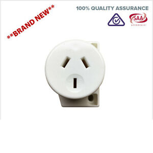 Surface-Socket-Fast-Connect-10A-AMP-Quick-Connect-240v-3-Pin-Fan-Plug-Base