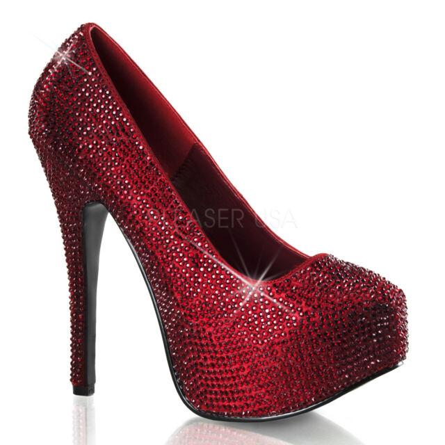 55b1e42050b BORDELLO TEEZE-06R Ruby Red Gem Rhinestone 6