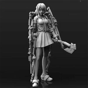 1-24-mecaniques-Girl-resin-kits-non-peinte-Figure-Modele-GK-non-assemble