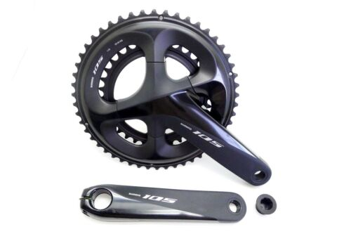 Black Shimano 105 FC-R7000 2x11 Speed 50//34T 165mm Crankset Without BB