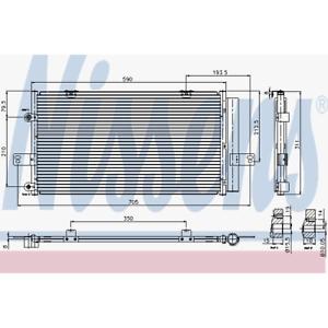 Condensateur climatisation-NISSENS 94652