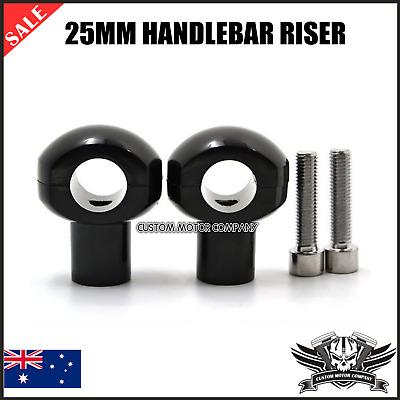 1/'/' Black Cut Handlebar Bar Riser Clamp For Harley Custom Bobber