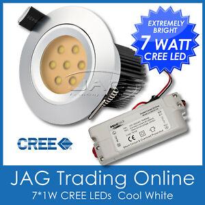240V 7W (7*1W) CREE LED DOWNLIGHT DOWN LIGHT KIT & DRIVER/SATIN CHROME HOUSING