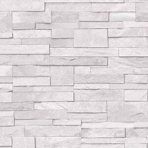la imagen se est cargando grandeco papel pintado realista piedra pared ladrillos efecto - Pared Ladrillo Blanco