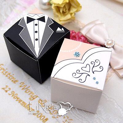 Bride & Groom Tuxedo Dress Decoration Wedding Favor Gift Candy Box Wedding Party
