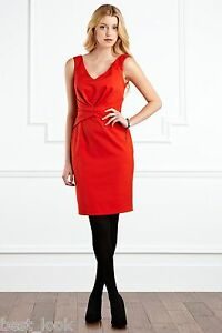 Coast-Orange-Cinched-Waisted-Mills-Dress-RRP-125-00-Size-8-to-16