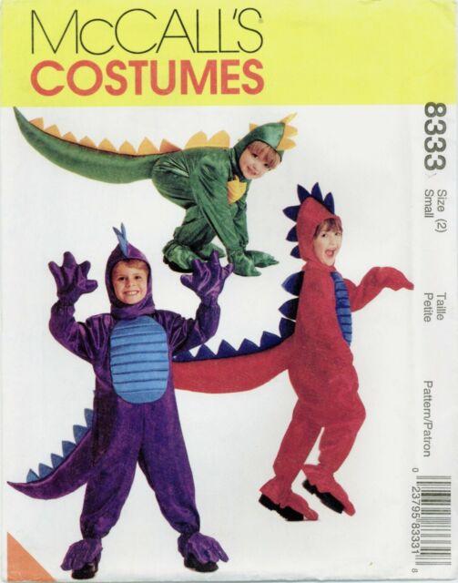 McCalls 8333 Childrens Boys Girls Dragon Costume sewing pattern UNCUT FF NEW