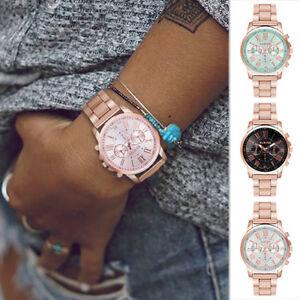 Damenuhr-Armband-Herren-Uhr-Uhren-Farbe-Rosegold-Silber-Mesh-Leder-Schwarz-Beige